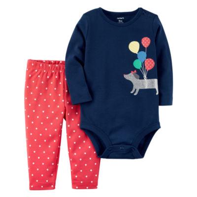 Carter's 2-pc. Dots Pant Set Baby Girls