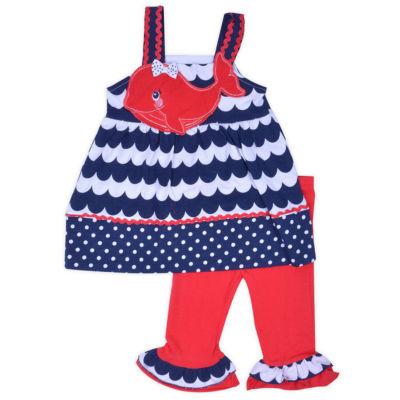 Nanette Baby 2-pack Legging Set-Toddler Girls