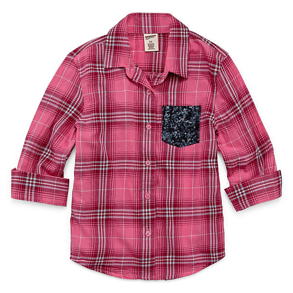 Arizona Long Sleeve Button-Front Shirt - Girls' Preschool