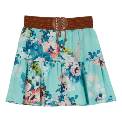 by&by girl Woven Skater Skirt - Big Kid Girls