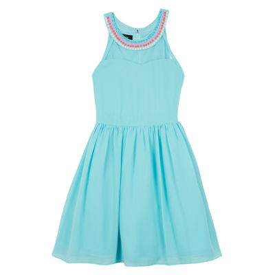 by&by girl Sleeveless Pattern A-Line Dress Girls