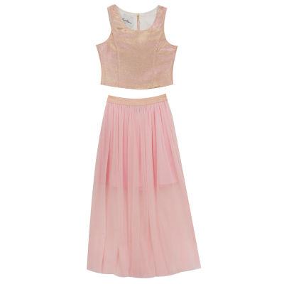 Rare Editions Embellished Sleeveless A-Line Dress - Big Kid Girls