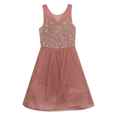 Rare Editions Embellished Sleeveless A-Line Dress - Big Kid Girls