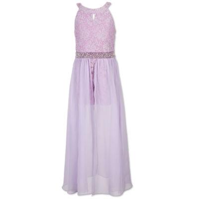 Speechless Beaded Sleeveless Maxi Dress - Big Kid Girls