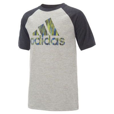 adidas Boys Crew Neck Short Sleeve Graphic T-Shirt-Preschool