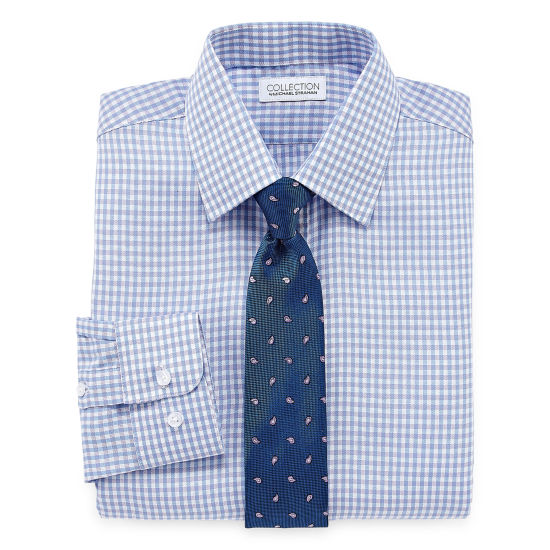 Collection by Michael Strahan Long Sleeve Shirt + Tie Set - Boys 8-20-Reg and Husky
