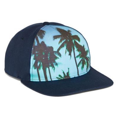 Capelli Of N.Y. Blue Tropical Print Baseball Hat - Boys 4-20