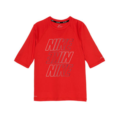 Nike Half Sleeve Logo Rash Guard-Preschool Boys 4-7