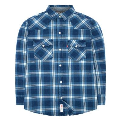 Levi's® ™ Barstow Western Plaid Shirt Big Kid Boys