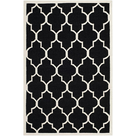 Safavieh Avery Hand Woven Flat Weave Area Rug, One Size , Black at RugsBySize.com