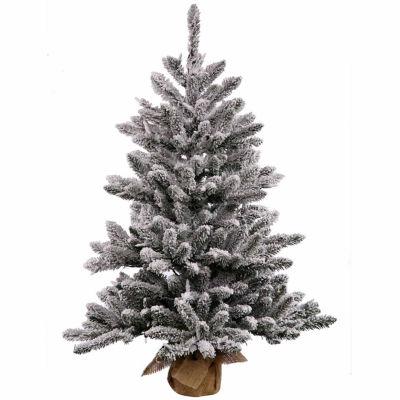 Vickerman Flocked Anoka Pine Artificial ChristmasTree with Warm White LED Lights