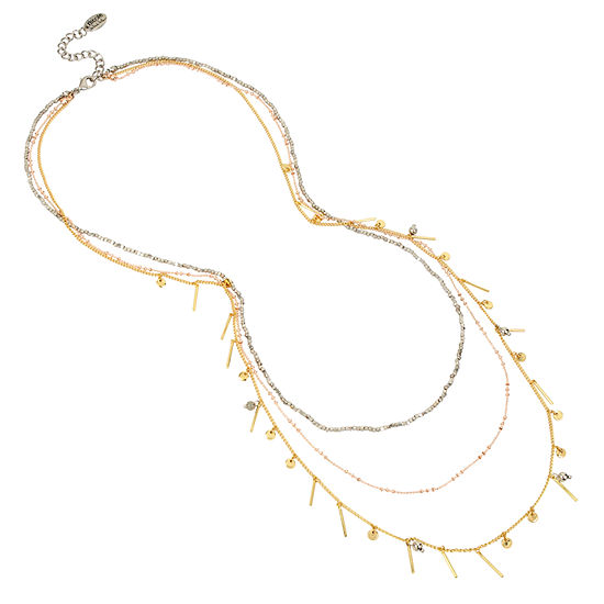 Nicole By Nicole Miller Womens Illusion Necklace