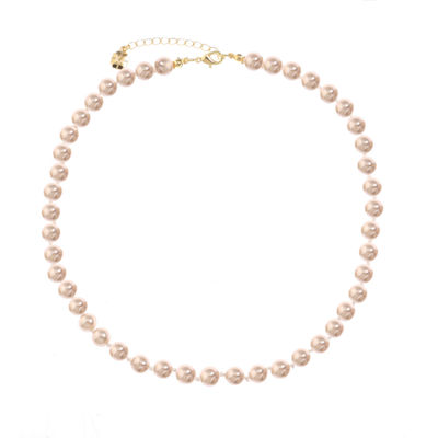 Monet Jewelry Womens Pink Simulated Pearl Collar Necklace
