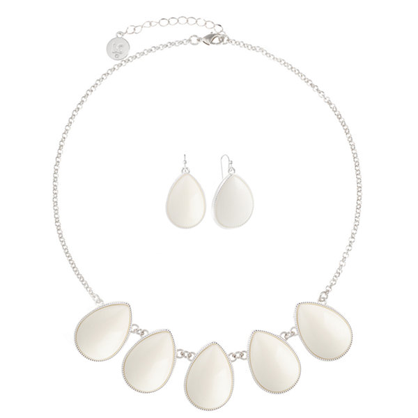 Liz Claiborne Liz Claiborne Womens 2-pc. White Jewelry Set Q1Gv6me