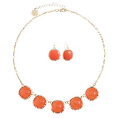 Liz Claiborne Womens 2-pack Orange Jewelry Set