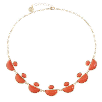 Liz Claiborne Womens Orange Collar Necklace