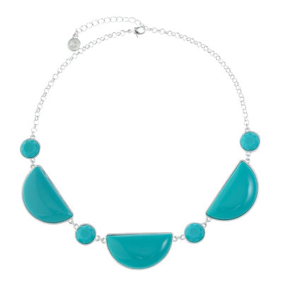Liz Claiborne Womens Blue Collar Necklace