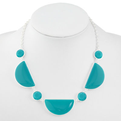 Liz Claiborne Blue 17 Inch Cable Collar Necklace
