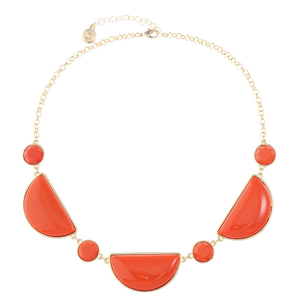 Liz Claiborne Liz Claiborne Womens Orange Collar Necklace Gji7SCP7x
