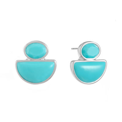 Liz Claiborne Blue 17mm Stud Earrings
