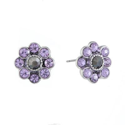 Monet Jewelry Purple 12mm Stud Earrings