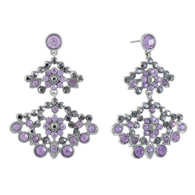 Monet Jewelry Purple Chandelier Earrings