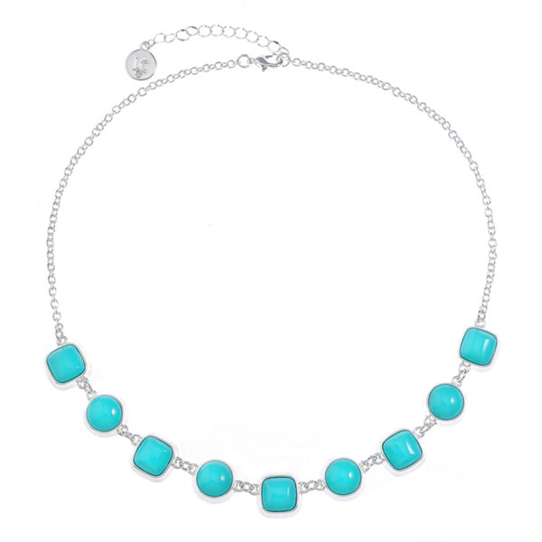 Liz Claiborne Liz Claiborne Womens Blue Collar Necklace Or2okG