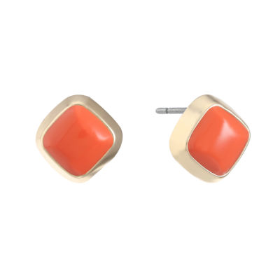 Liz Claiborne Orange 15mm Stud Earrings