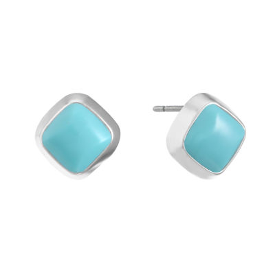 Liz Claiborne Blue 15mm Stud Earrings