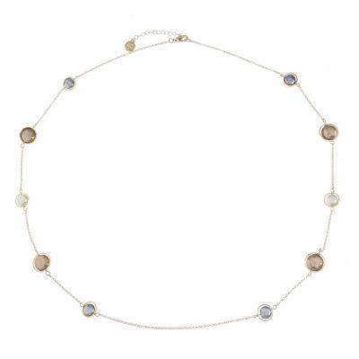 Liz Claiborne Womens Multi Color Simulated Pearl Round Strand Necklace
