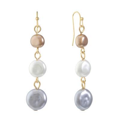 Liz Claiborne Multi Color Round Drop Earrings