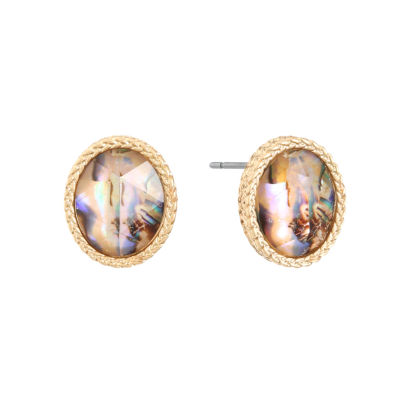 Liz Claiborne 13mm Oval Stud Earrings