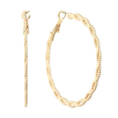 Liz Claiborne 60mm Hoop Earrings