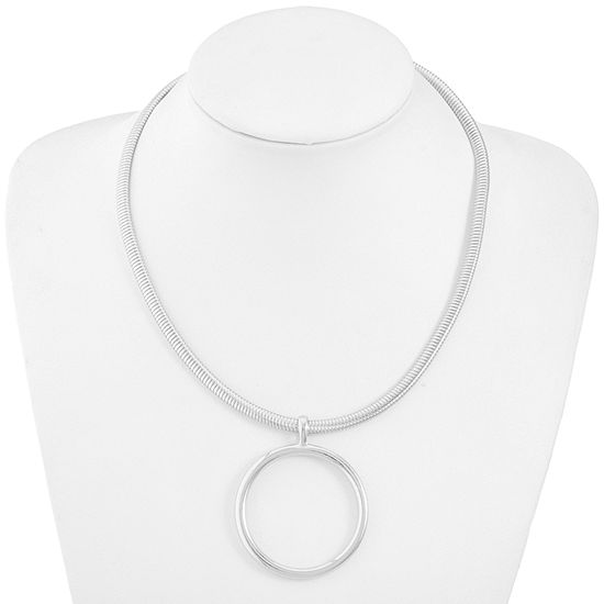 Liz Claiborne 19 Inch Omega Collar Necklace
