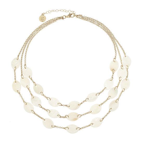 Liz Claiborne White 17 Inch Cable Collar Necklace