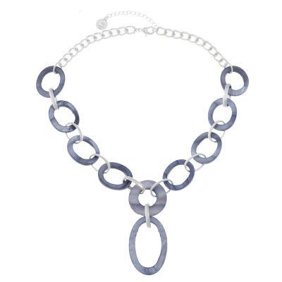 Liz Claiborne Womens Blue Y Necklace