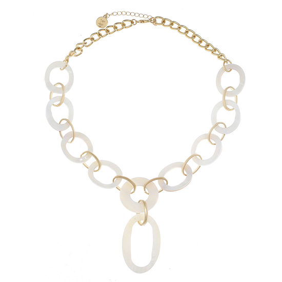 Liz Claiborne Womens White Y Necklace