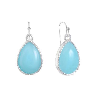 Liz Claiborne Blue Pear Drop Earrings