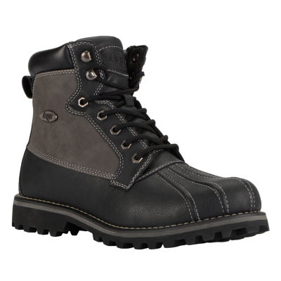 Lugz Mens Mallard Work Boots Slip Resistant Lace-up