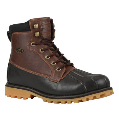 Lugz Mens Mallard Slip Resistant Work Boots Lace-up