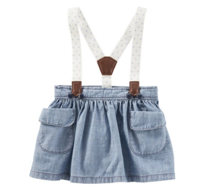 Oshkosh Denim Skorts - Baby Girls