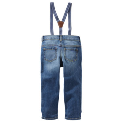 Oshkosh Suspender Jeans Toddler Boys
