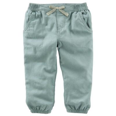 Oshkosh Olive Pull-On Pants - Baby Girls