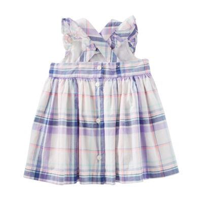 Oshkosh Cross-Back Plaid Dress - Baby Girls