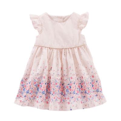 Oshkosh Floral Poplin Dress - Baby Girls