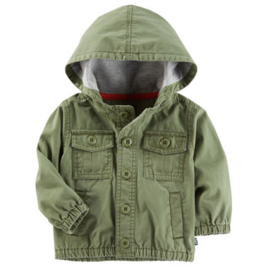 Oshkosh Olive Surplus Jacket Boys Midweight Field Jacket-Baby