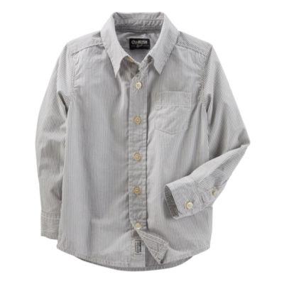 Oshkosh Long Sleeve Button Down Shirt  - Toddler Boy