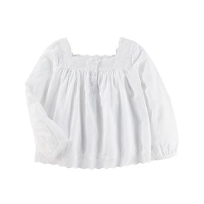 Oshkosh Long Sleeve Eyelet Top- Toddler Girls