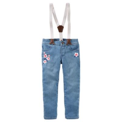 Oshkosh Suspender Jeans -Toddler Girls