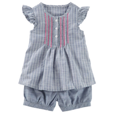 Oshkosh 2 pc Striped Sun Set Toddler Girls